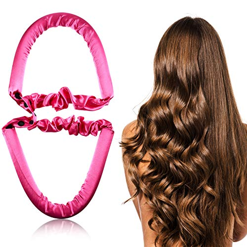 Hanaive Non-heat Curling Hair Band Sports Hair Band Wave Style Hair Rollers Heatless Curls Ribbon DIY Hair Styling Rollers Tools Night Sleep Hair Curler Rollers for Women Girls (Cute Pattern)