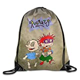 Etryrt Mochilas/Bolsas de Gimnasia,Bolsas de Cuerdas, Drawstring Tote Backpack Bag Rugrats Tommy and Chuckie