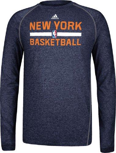 adidas Nueva York Knicks Heather Negro práctica Climalite Manga Larga Camiseta (Grande)