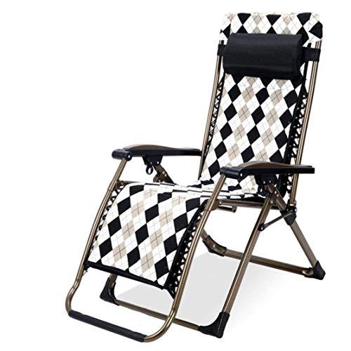Ligstoelen Draagbare fauteuil Stoel Opklapbaar gazon Lounge stoelen Tuinstoel voor buiten met afneembaar kussen, voor Patio Beach Camping