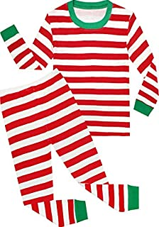 Image of Classic Red Striped Christmas Pajamas for Boys and Toddler Boys - See More Colors