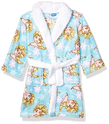 Disney Girls' Big Frozen 2 Luxe Plush Robe, ICY Elsa, 10