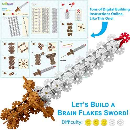 VIAHART Brain Flakes 500 Piece Interlocking Plastic Disc Set | A Creative and Educational Alternative to Building Blocks | Tested for Children's Safety | A Great STEM Toy for Both Boys and Girls!