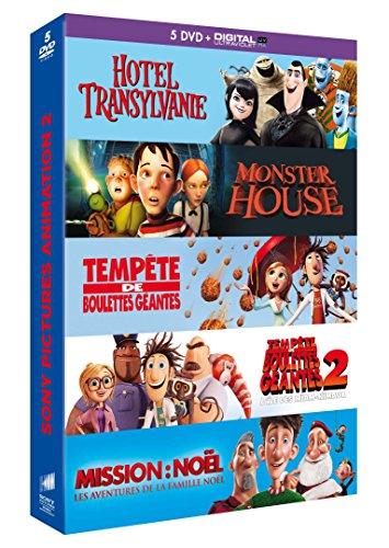 Coffret animation 5 DVD - Hôtel Transylvanie + Monster House + Tempête de boulettes géantes + Tempête de boulettes géantes 2 + Mission: Noël, les aventures de la famille Noël [Francia]