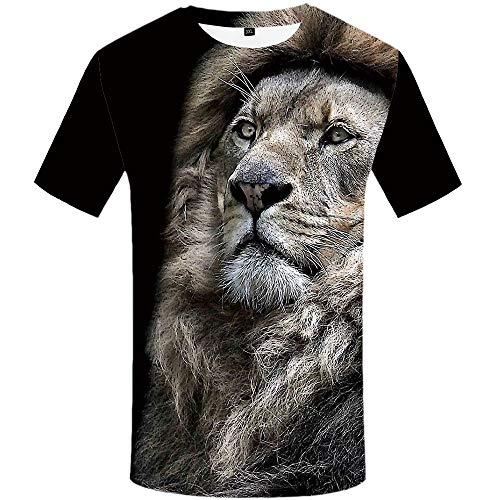 KYKU Lion Tshirt Men Size S-XXXL 3D T Shirt Animal T-Shirts for Mens Clothing (XXX-Large, Colorful)
