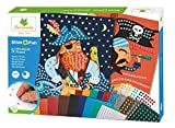 Mosaïques autocollantes pour enfants - 5 maxi tableaux Pirates - Loisir créatif - Stick & Fun - Dès 5 ans - Sycomore - CRE7008