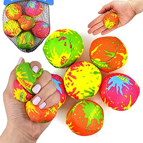 JONOTOYS Wasserbomben Wasserball Set 6tlg Spielball Ball circa5cm Splash Strandball Beachball