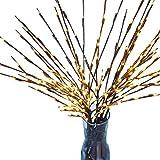 Blanketswarm Branche lumières LED rameaux lumières décoratives à Piles Blanc Chaud en Osier Twig Lighted Branche pour décoration de Noël–76,2cm 20Lampes LED