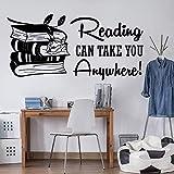 mlpnko Tatuajes de Pared Biblioteca Aprendizaje Citas Inspiradoras Libros educación Pegatinas de Pared Arte de Aula 56x27cm