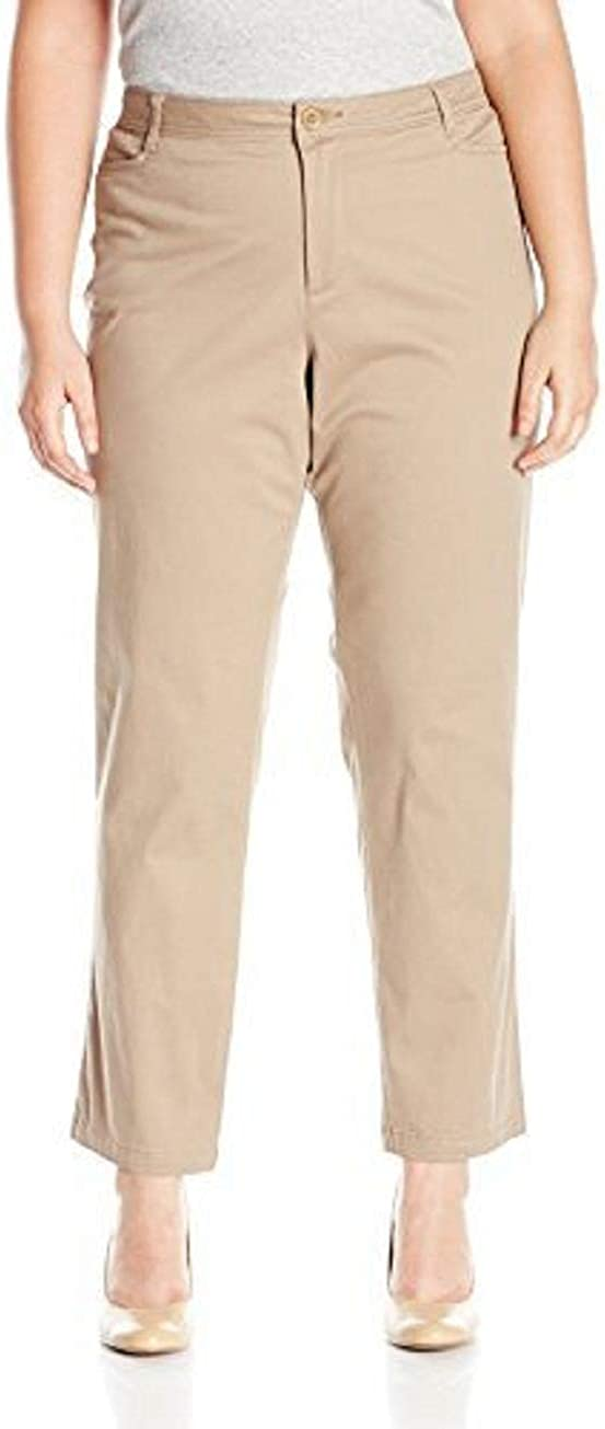 Riders by Lee Indigo Women's Plus Size Straight Casual Twill Pant
