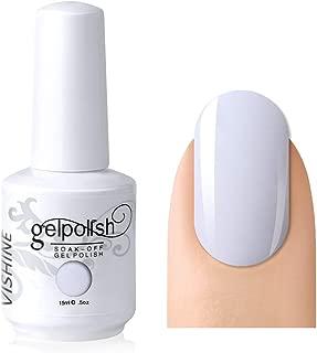 Vishine Gelpolish Professional Manicure Salon UV LED Soak Off Gel Nail Polish Varnish Color French White (1323)