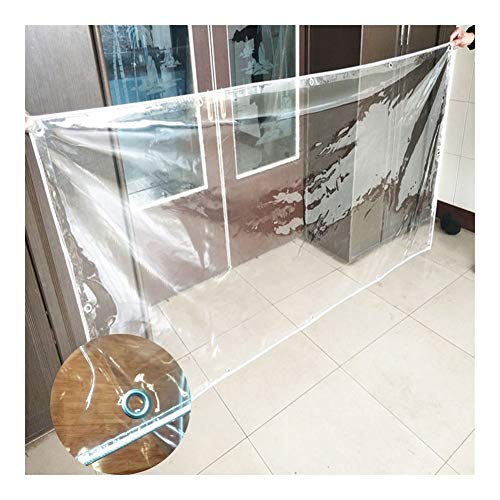 GYYARSX-Plant Covers Glass Clear Tarpaulin Waterproof Heavy Duty Transparent Rain Cloth Thicken PVC Outdoor Rain Curtain Window Windshield Balcony, 9 Colors (Color : Clear, Size : 2.0X4.0M)