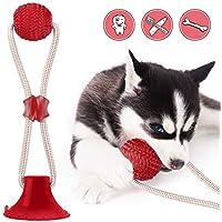 HUHUDAY Juguetes para Perros, Ventosa Perro, Juguete Multifuncional para Mordedura De Molar para Mascotas Juguete De Bola De Perro De Estilo De Ventosa Resistente A La MasticacióN