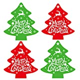 Merry Christmas Tree Stickers Envelope Seals Labels (Pack of 320) - 2.5 X 2.3' Christmas Stickers/Christmas Tags/Holiday Sticker for Cards Gift Envelope Decorative Seals