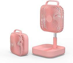 Ventilateur sur pied réglable en hauteur - Pliable et portable - Batterie rechargeable - Mini ventilateur USB pour la mais...