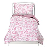 Where The Polka Dots Roam Twin Rocket Reversible Duvet Cover Set with 1 Pillowcase for Kids Bedding - Double Brushed Microfiber (68' L X 86' W)