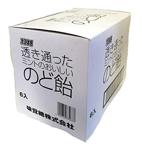 味覚糖透き通ったミントのおいしいのど飴92G×6袋