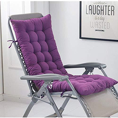 DSDD 8CM Thicken Washable Recliner Chair Cushion, EPE Foam Breathable Relief Pain Seat Cushion for Rocking Chair Back Cushion-48x152Cm(19x60Inch)-Purple