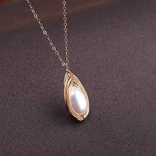 LOt Pendiente en Forma de Gota para Mujer Pendientes de Moda S925 Bolsa de Joyería Pendientes de Perlas Doradascollar