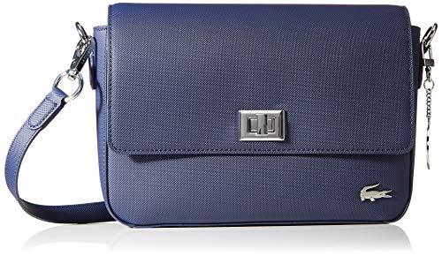 Lacoste Daily Classic - Borse a tracolla Donna, Blu (Peacoat), 6x18x25 cm (W x H L)