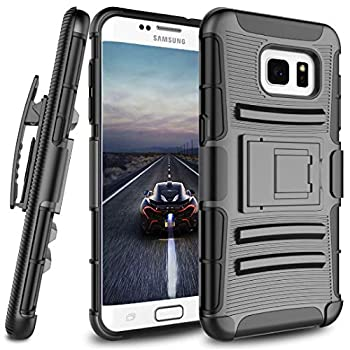 Jeylly for Samsung Galaxy S7 Case Galaxy S7 Holster Clip Heavy Duty [Kickstand] Holster Locking Belt Swivel Clip Defender Shockproof Cases for Samsung Galaxy S7 S VII G930 GS7 All Carriers [Black]