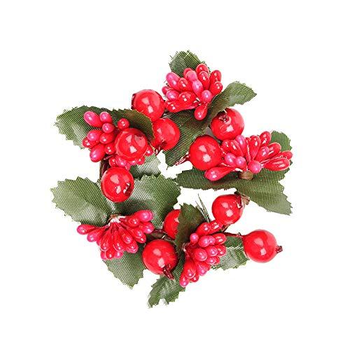 LPxdywlk Guirnalda De Navidad Guirnalda Faux Berry Pine Cone Home Door Colgante Adorno Decoración Accesorios De...