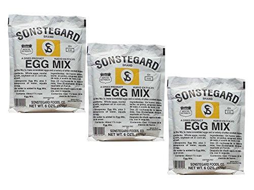 Pack of 3 Sonstegard Powdered Egg Mix, 6 Oz Each