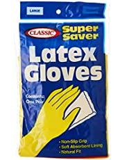 Classic Super Saver Gloves - Large 1 Pair, Yellow