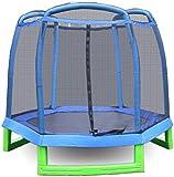 ANCHEER Trampolin mit Netz Klein Kindertrampolin mit Gehäuse, Zielgruppe: Baby, Kleinkind,...