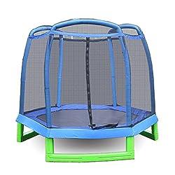 AMDirekt children's trampoline with net toddlers trampoline to jump Diameter: 213CM