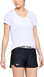 Under Armour Womens Tech V-Neck T-Shirt in White.
