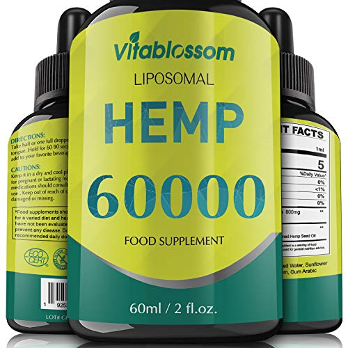 Liposomales Naturöl | 60000mg/90% | Reine Hochkonzentrationsformel | Hohe Absorption | Veganerfreundlich (60ML 60000)