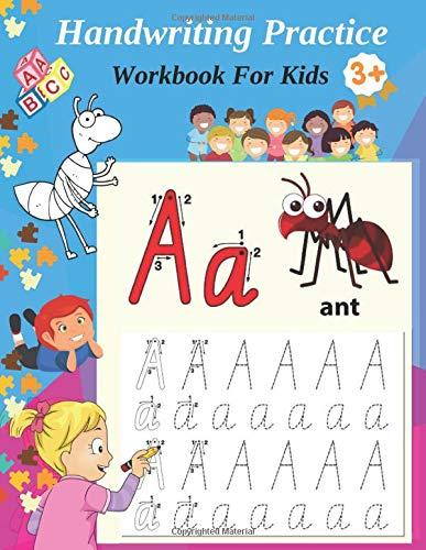 Handwriting Workbook: Alphabet Handwriting And coloring Exercises Book For Children: Preschool Writing And Coloring Book For Kids Ages 3-5