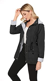 bedee Women's Raincoats Windbreaker RainJackets Waterproof Ourdoor Hooded Trench Coats