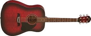 Oscar Schmidt OG2 Dreadnought Acoustic Guitar - Flame Black Cherry