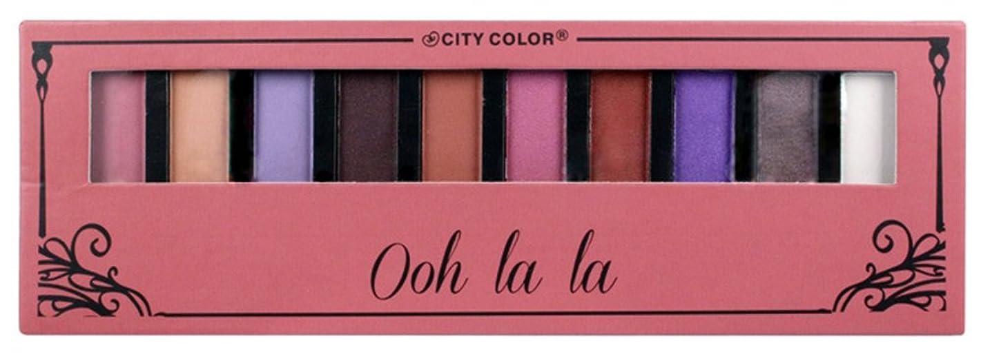 くるくる東願うCITY COLOR Ohh La La Eyeshadow Palette - 10 Shades (並行輸入品)