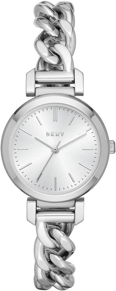 DKNY Reloj Analógico para Mujer de Cuarzo con Correa en Acero Inoxidable NY2664