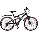 Hero RX2 26T 21 Speed Mountain Bike (Black Red, Ideal For : 12+ Years )