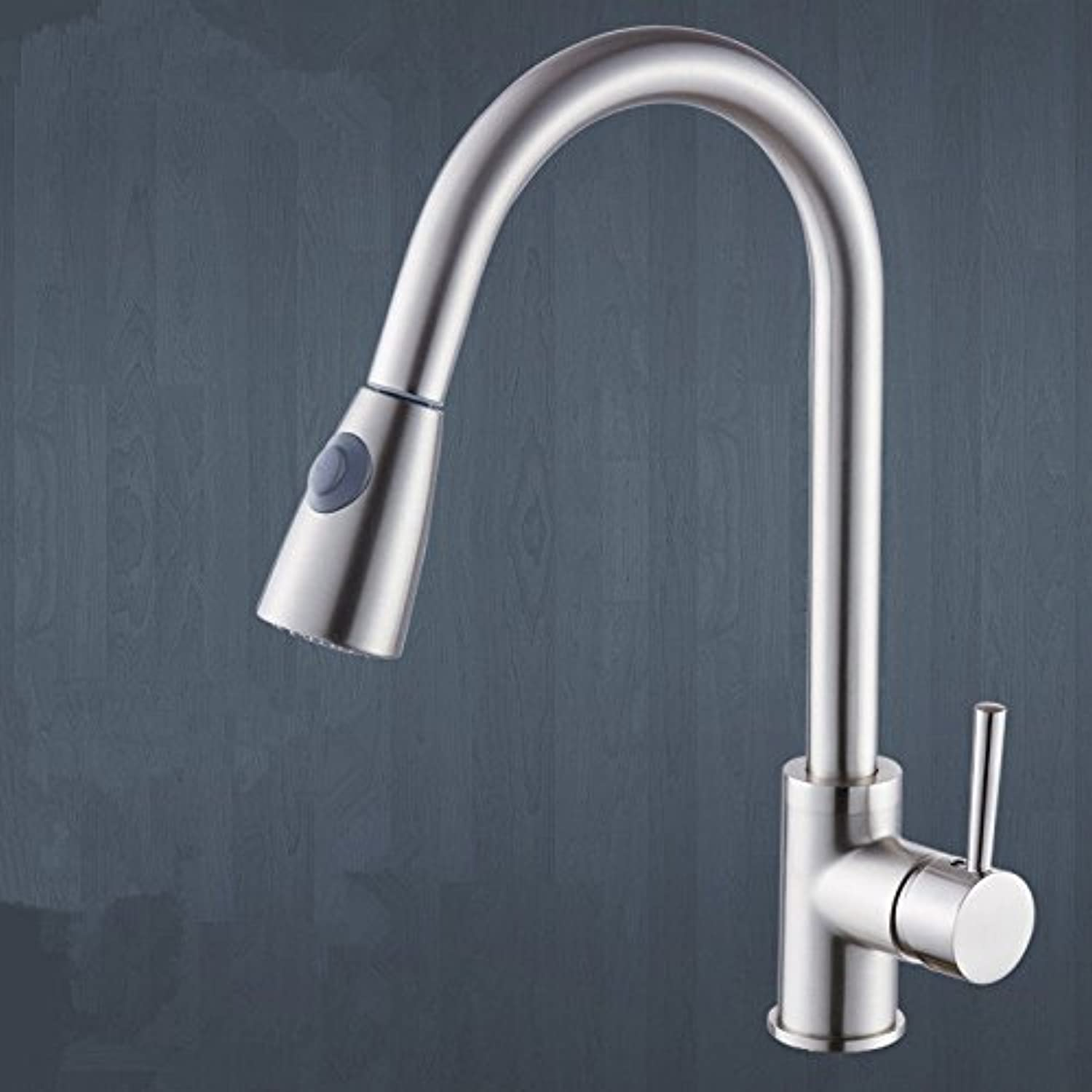 AQMMi Bathroom Sink Mixer Tap Brass Pull-Out Hot and Cold Water Antique Brushed Single Lever Taps for Bathroom Sink