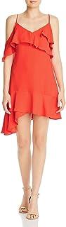 BCBG Max Azria Womens Ruffled V-Neck Cocktail Dress