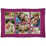 Manta. Regalos Personalizados con Foto. Manta Polar para sofá y Cama. Tejido Certificado Oeko-Tex. Tamaño aproximado 80x125cm. Manta cálida. Rosa