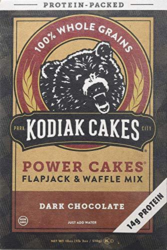 Kodiak Cakes Power Cakes, Dark Chocolate Flapjack and Waffle Mix, 18 Oz