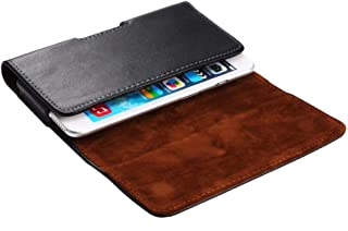 DFV mobile - Case Belt Clip Genuine Leather Horizontal Premium for Xiaomi Mi MIX Alpha (2019) - Black