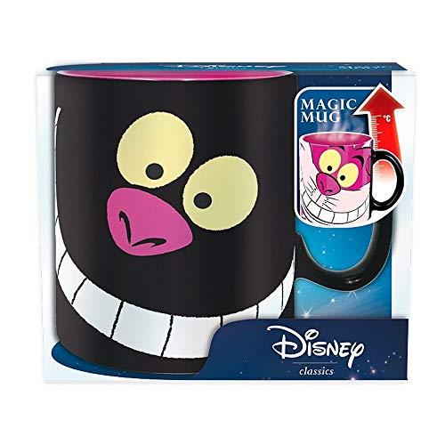 Alice im Wunderland Disney Keramik Thermoeffekt Tasse Riesentasse 460 ml - Grinsekatze - We Are All Mad Here - Geschenkbox