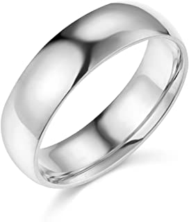 Best mens white gold comfort fit wedding band Reviews