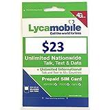Lycamobile Preloaded Sim Card with $23 Plan Serv