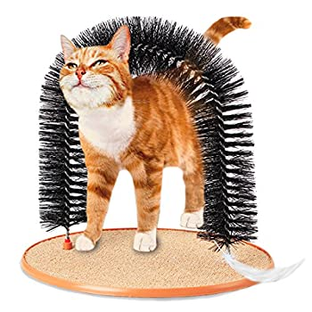 Arche de Chat Jouet de Massage et de toilettage pour Chats avec des soies Douces et Confortables à gratter Play Nip Animal