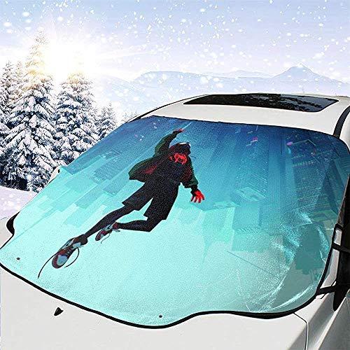 Couverture de neige de pare-brise de voiture multifonction de Spiderman,pare-soleil de voiture,pare-soleil de déglaçage pour la protection d'hiver empêchent les rayures imperméables