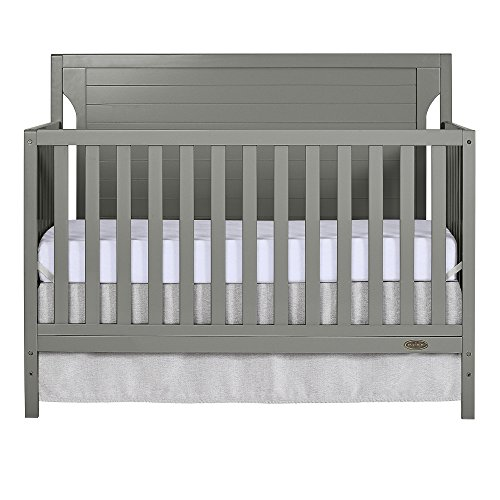 Dream On Me Cape Cod 5-in-1 Convertible Crib in Storm Grey, Greenguard Gold Certified