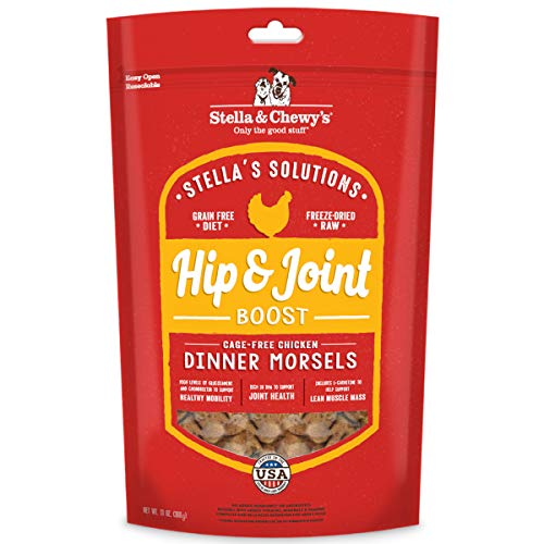 Stella & Chewy's Stella's Solutions Hip & Joint Boost Cage-Free Chicken Dinner Morsels Freeze-Dried Raw Dog Food, 13 oz (SOL-FDCHJ-13)